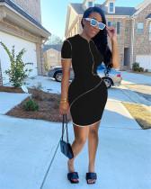 Fashion Sexy Short Sleeve Tight Mini Dress FENF-103