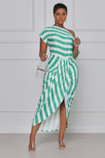Sexy Off Shoulder Irregular Midi Dress YYF-6555