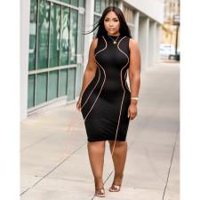 Sexy Tassel Sleeveless Bodycon Dress YFS-3681