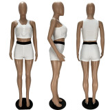 Sexy Vest Top And Shorts Tight 2 Piece Sets XYF-9093