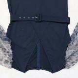 Plus Size Loose Wide-leg Jumpsuits (With Belt) CYA-1469