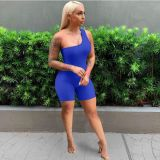 Fashion Casual Sports Home Solid Color Rompers SHA-6233