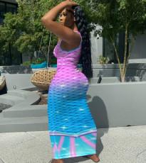 Sexy Printed Sleeveless Maxi Dress NIK-232