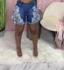 Denim Ripped Hole Jeans Shorts LA-3261