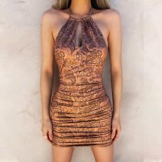 Printed Sexy Fashion Slim Dress MIF-9051