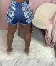 Denim Ripped Hole Jeans Shorts LA-3261
