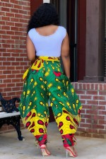 Casual Loose Printed High Waist Tapered Pants OMY-0009
