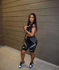 Casual Fitness Tank Top And Shorts 2 Piece Suits YLF-8077