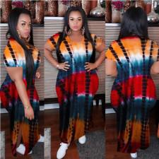 Plus Size Casual Printed Split Loose Maxi Dress MOF-6622