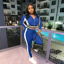 Casual Tracksuit Zipper Two Piece Pant Sets FOSF-8072