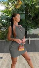 Sexy Halter Backless Mini Dress YMEF-5009