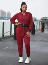 Casual Sports Hooded Zipper 2 Piece Suits YNSF-1610