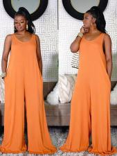 Solid Color Casual Home Loose Jumpsuit TMF-8031