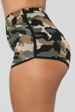 Camouflage Snake Print Casual Yoga Fitness Shorts LSD-8553