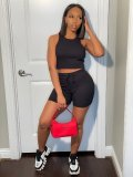 Casual Solid Tank Top And Shorts 2 Piece Sets FSL-F155