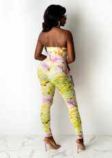 Sexy Printed Strappy Backless Hollow Jumpsuit AWN-5217