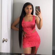 Sexy Printed Sleeveless Mini Skirt 2 Piece Sets NLAF-6045