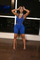 Sexy Mesh Halter Bodysuit+Shorts Two Piece Sets NYF-8068