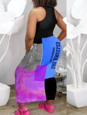 Casual Printed Sleeveless Maxi Dress KYF-3079