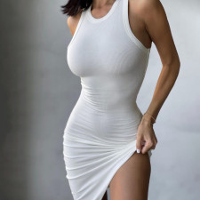 Sexy Solid Sleeveless Bodycon Dress SH-390135