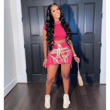 Fashion Sexy Print Night Club Party Mini Skirt WSM-5252