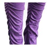 Solid Long Sleeveless Slash Neck Split Stacked Pants Set SH-3858