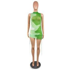 Sexy Mesh Sleeveless Mini Dress NSFF-8065
