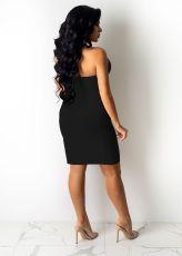 Sexy Halter Hollow Out Split Club Dress SHA-96239