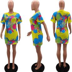 Fashion Casual Print Dress NYZF-6012