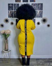 Plus Size Casual Printed Half Sleeve Midi Dress YFS-10007