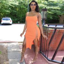 Sexy Sleeveless Lace-up Split Bandage Dress YNSF-16807