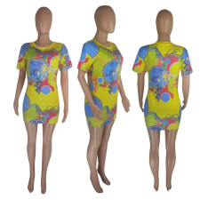 Fashion Casual Print Dress SNIF-568021