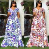 Sexy Fashion Loose Print Dress WPF-8003
