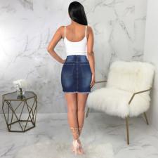 Fashion Sexy Frayed Denim Skirt HSF2030-1