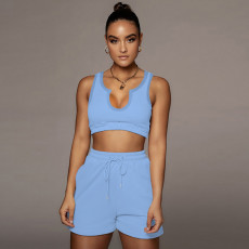 Casual Sports Tank Top And Shorts 2 Piece Sets YH-5231