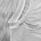Cartoon Print Short Sleeve Casual Mini Dress YNB-7004