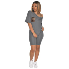 Casual V Neck T Shirt And Shorts 2 Piece Sets TE-3978