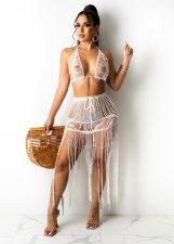 Sexy Knitted Tassel Beachwear 2 Piece Sets TR-1165