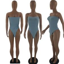 Sexy Solid Off Shoulder Tube Bodysuit BLI-2392