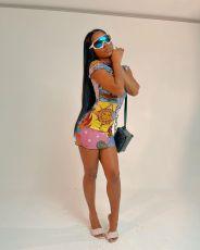Casual Fashion Printed Mini Dress MXDF-6001