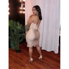 Sexy Spaghetti Strap High Waist Bodycon Dress BN-B827