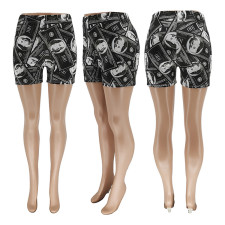 Casual Printed Mid-waist Shorts WSYF-5885