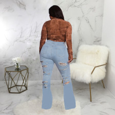Plus Size Sexy Fashion All-match Hole Jeans (Without Belt) HSF-2532