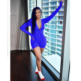 Sexy Solid Long Sleeve Skinny Romper WXF-8877