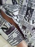 Casual Printed Long Sleeve Shirt Dress BS-1279