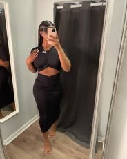 Solid Short Sleeeve Ruched Slim Long Dress NLF-8077