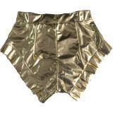 Sexy Bright Ruffled Nigh Club Mini Shorts FSL-160