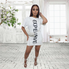 Letter Print Casual Fashion Mini Dress JGEF-JG050