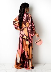 Sexy Printed 3/4 Sleeve Wide Leg Pants 2 Piece Suits ZDF-31139