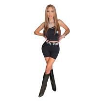 Fashion Print Camisole Shorts Two Piece Sets CXLF-KK817